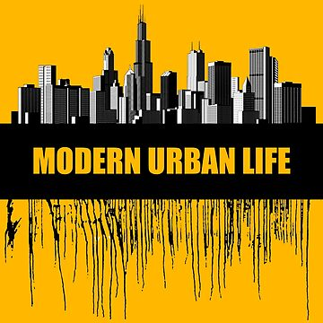 Modern urban life placard and conceptual design by maystra
