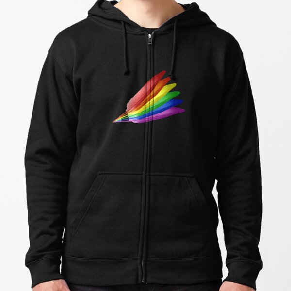 Feathered Pride 2 Zipped Hoodie