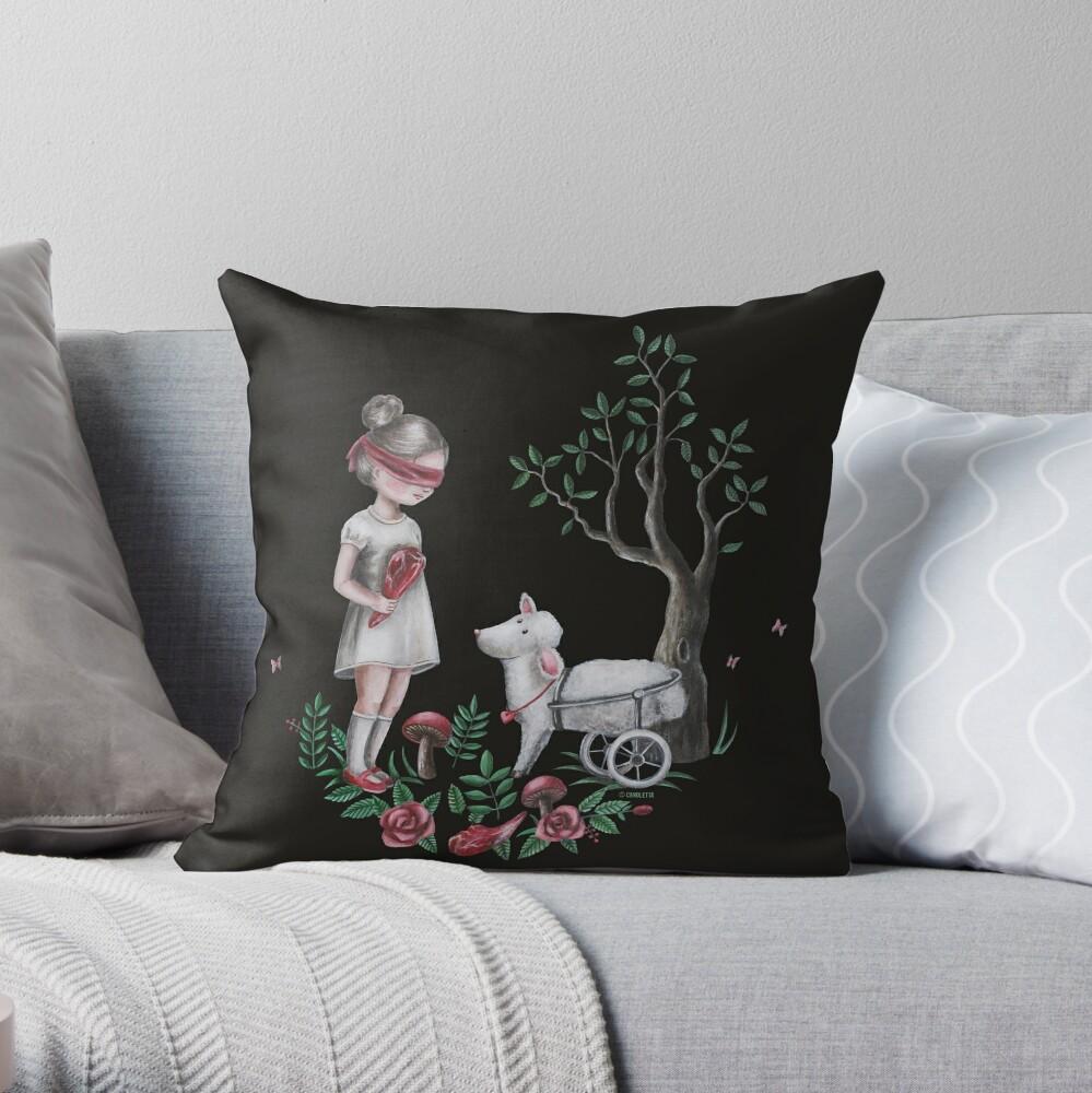 The Easter Lamb Throw Pillow