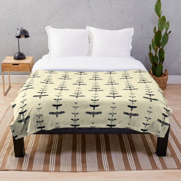 Australian Birds - B&W Throw Blanket