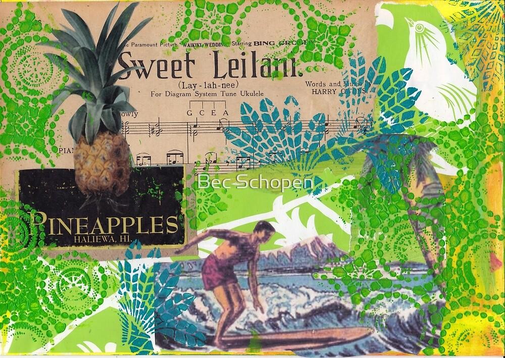 Pineapples by Bec Schopen