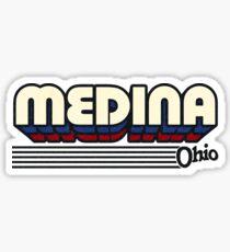 Medina, Ohio | Retro Stripes Sticker