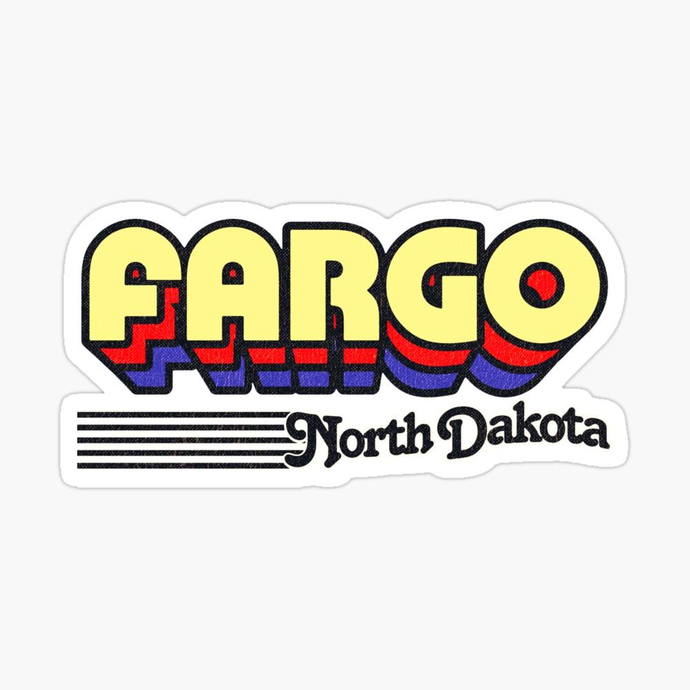 Fargo, North Dakota   Retro Stripes Sticker