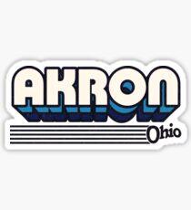 Akron, Ohio | Retro Stripes Sticker