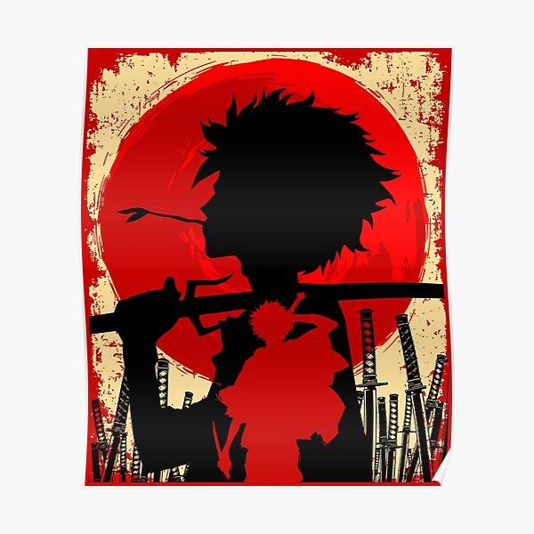 Samurai coucher de soleil Mugen Poster