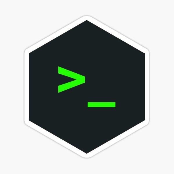 Terminal Hexagon Sticker