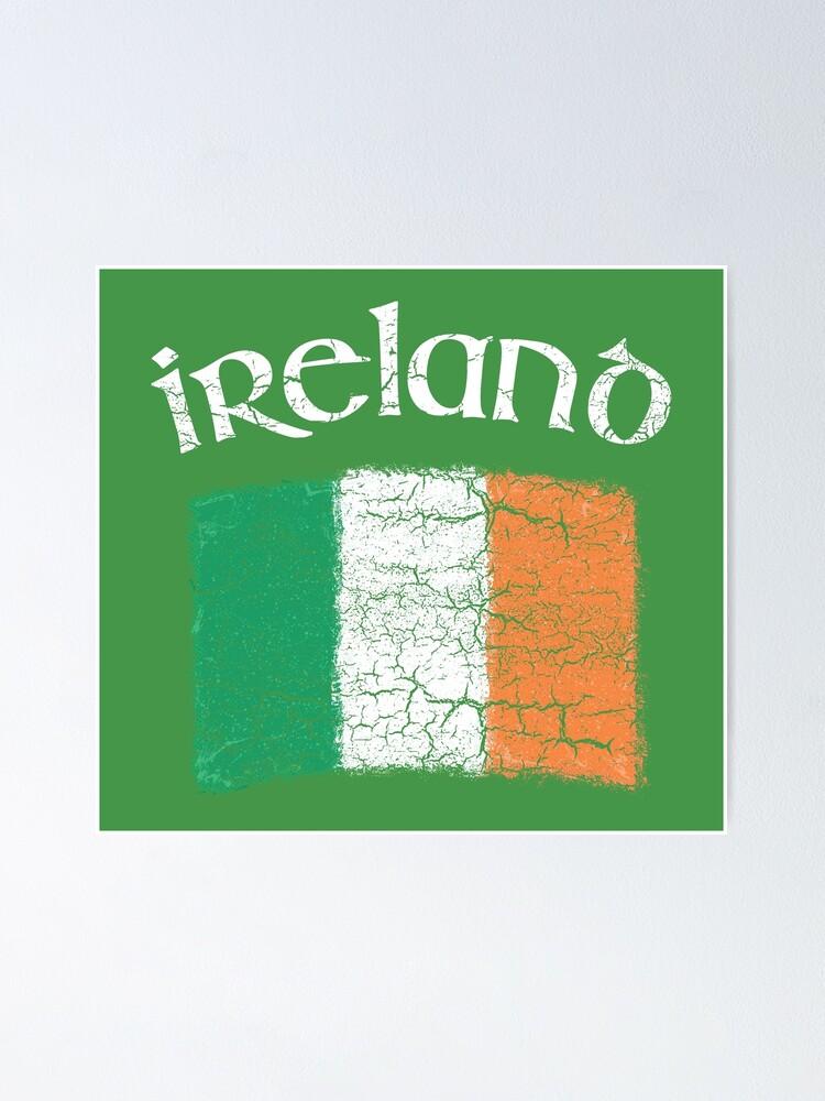 Patrick/'s Day Toddler Kids T-Shirt Irish Flag Retro Clover For St