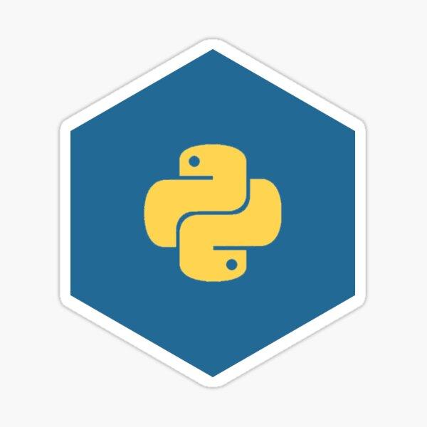 Python Blue Hexagon Sticker