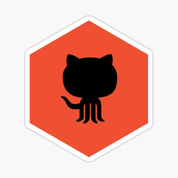 Git Black Hexagon Sticker