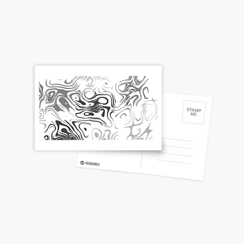 Black And White Liquid Postkarte