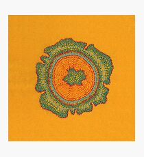 Growing: Taxus - embroidery of plant cells Photographic Print