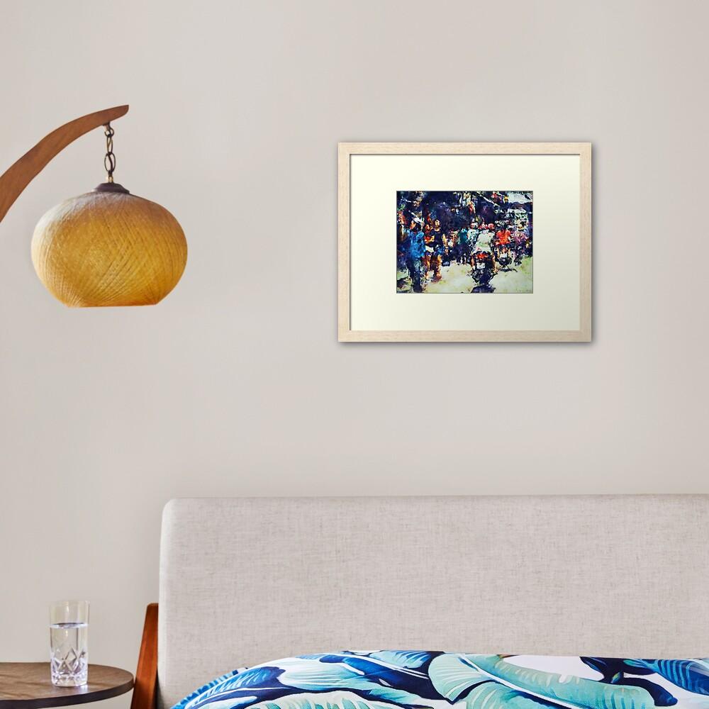 Crowded Street Framed Art Print