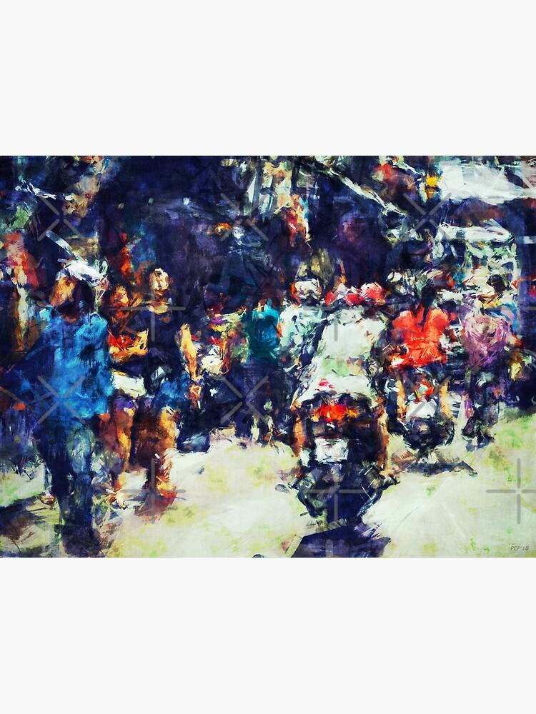 Crowded Street by perkinsdesigns