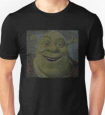 SHREK - Entire Script - With Shrek Face Slim Fit T-Shirt