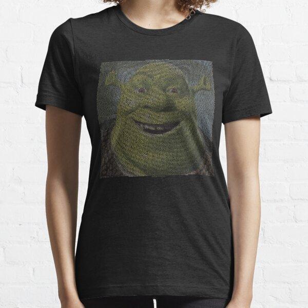 SHREK - Entire Script - With Shrek Face Essential T-Shirt