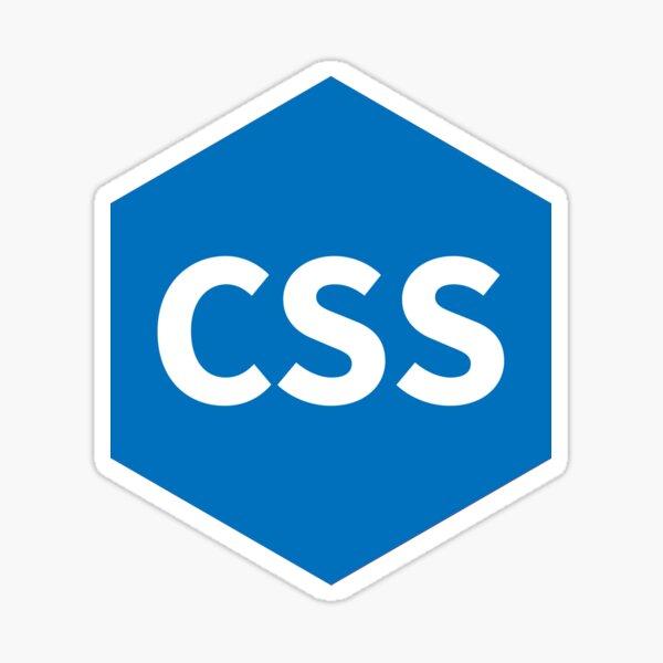CSS White Hexagon Sticker