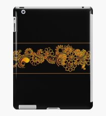 gold indian border iPad Case/Skin