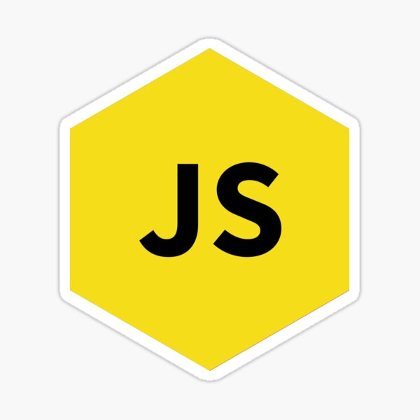 Javascript Yellow Hexagon Sticker