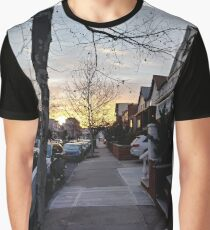 New York, Manhattan, Brooklyn, New York City, architecture, street, building, tree, car,   Graphic T-Shirt