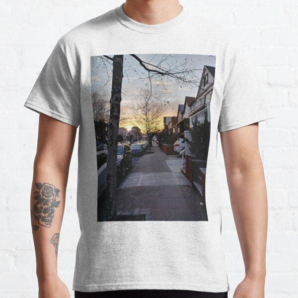 New York, Manhattan, Brooklyn, New York City, architecture, street, building, tree, car,   Classic T-Shirt