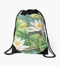 Water Lilies (watercolour on paper) Drawstring Bag