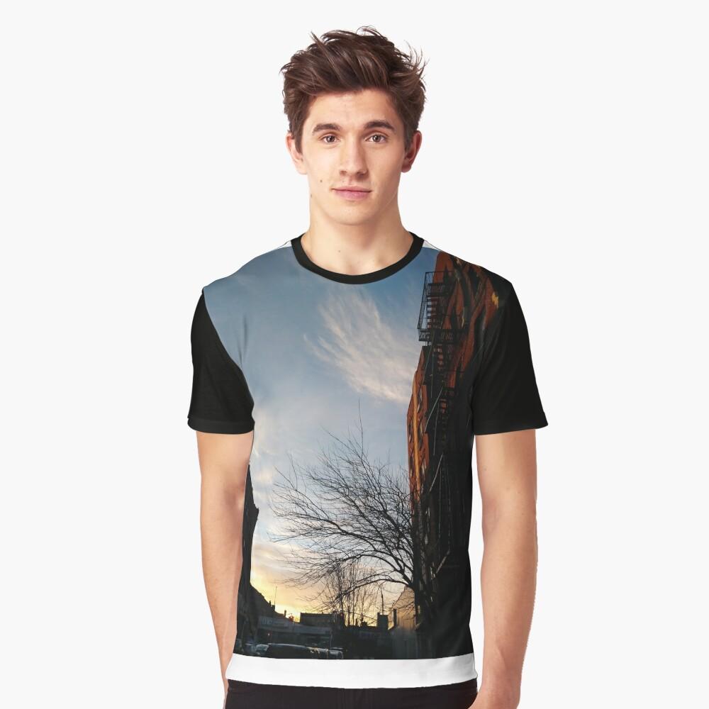 New York, Manhattan, Brooklyn, New York City, architecture, street, building, tree, car,   Graphic T-Shirt