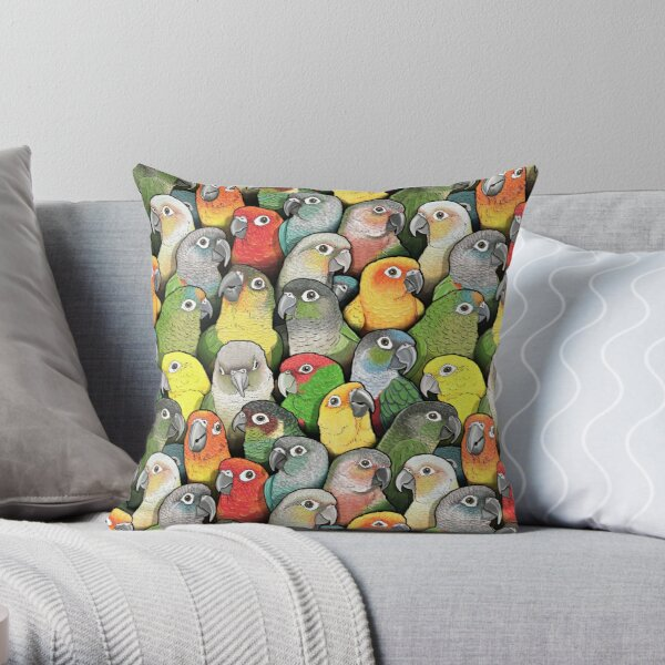 Colour of Conures Throw Pillow