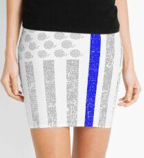 Crochet USA Flag (The Thin Blue Line) Mini Skirt