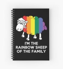 I'm The Rainbow Sheep Of The Family T-Shirt Spiral Notebook