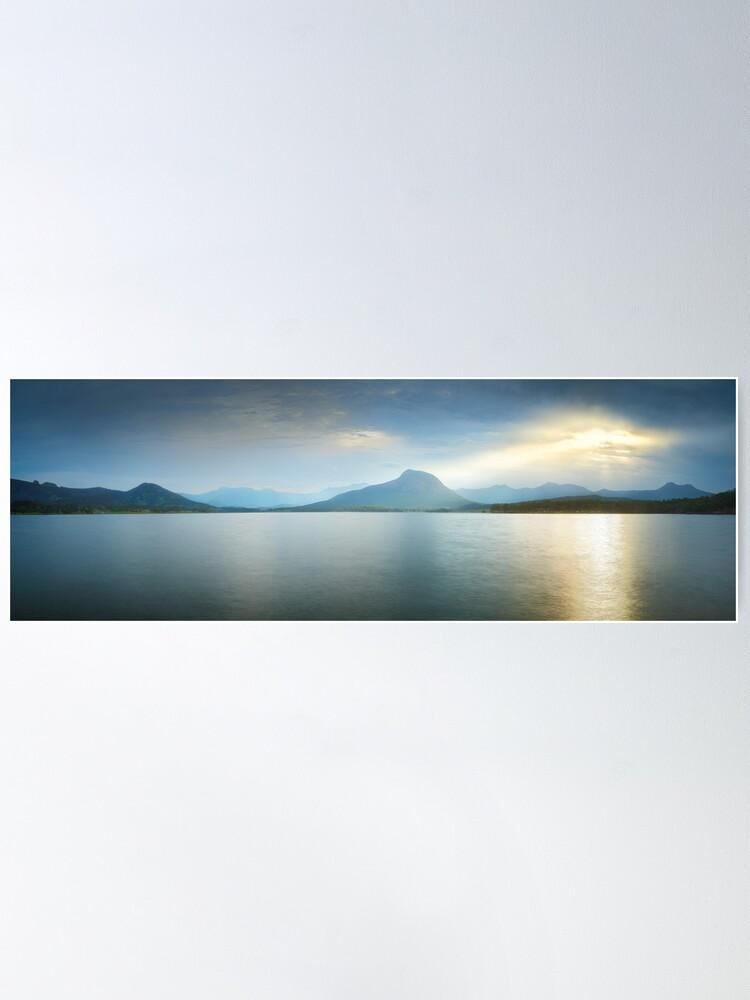 Alternate view of Lake Moogerah, South East Queensland, Australia Poster