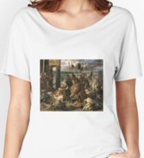 The Entry of the Crusaders into Constantinople 1840 Eugène Delacroix Women's Relaxed Fit T-Shirt