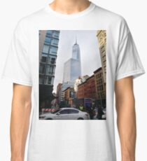 New York, Manhattan, Brooklyn, New York City, architecture, street, building, tree, car,   Classic T-Shirt