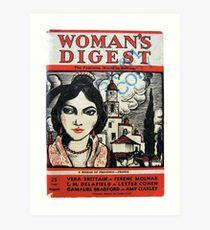 Vintage 1930s Womans Digest Magazine Art Print