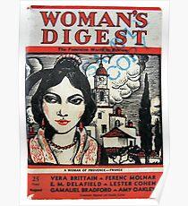Vintage 1930s Womans Digest Magazine Poster