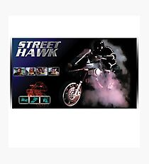 back to the era hawk in the street Photographic Print