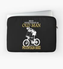 Never Underestimate An Old Man With A Mountain Bike Laptop Sleeve