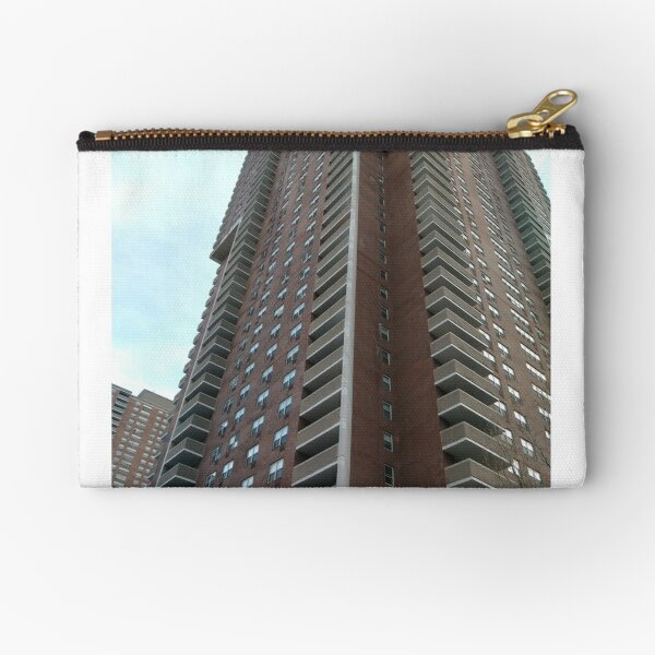 Condominium, New York, Manhattan, Brooklyn, New York City, architecture, street, building, tree, car,   Zipper Pouch