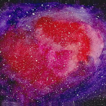Pink and Purple Watercolor Galaxy by feeble-platypus