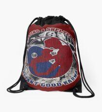 Adopt a shelter dog Drawstring Bag