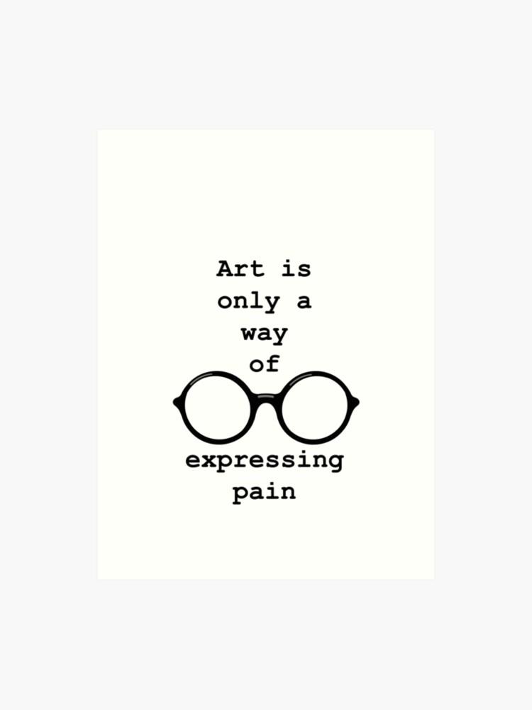 John Lennon Zitat Schmerz Ausdrücken Kunstdruck