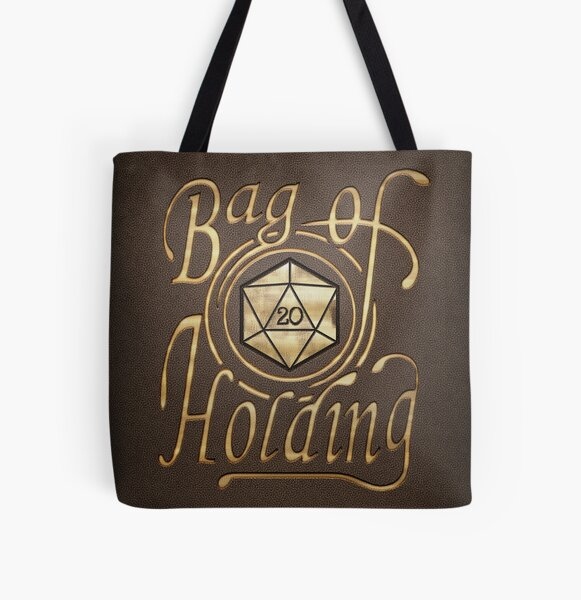 Bag of Holding (dark leather look) All Over Print Tote Bag