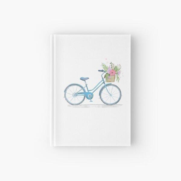 Flower Basket Bicycle Hardcover Journal