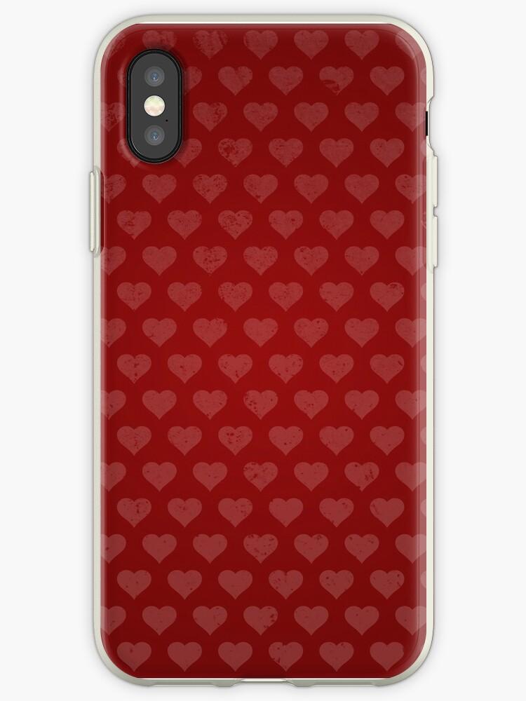 Red Vintage Heart Pattern by Fuchs-und-Spatz