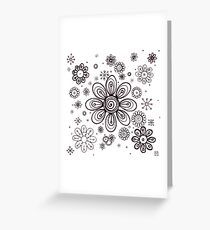Flowers drawing Greeting Card