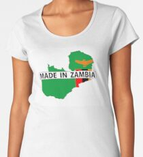 Hergestellt in Sambia Premium Rundhals-Shirt