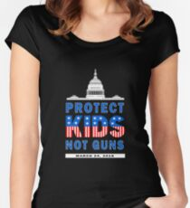 Protect Kids Not Guns- March for Our Lives  Tshirt Women's Fitted Scoop T-Shirt
