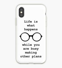 John Lennon quote - Life is what happens iPhone Case