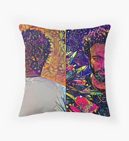 Abstract Donald Glover Throw Pillow