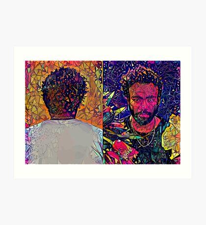 Abstract Donald Glover Art Print