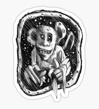 Space Monkey T Sticker